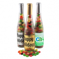 Large Champagne Bottle with Jelly Beans