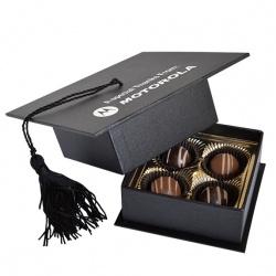Graduation Cap Box with 4 Truffles