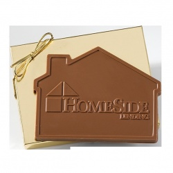 3.2 oz House Shaped Chocolate in Gift Box