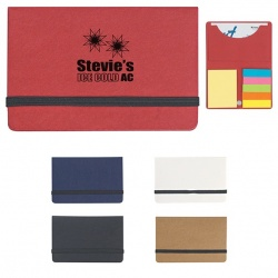 Sticky Notes and Flags in Paperboard Business Card Case