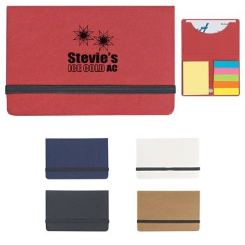 Sticky Notes and Flags in Paperboard Business Card Case - Awards Motivation Gifts