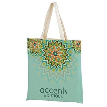 """15"""" x 16"""" Full Color Cotton Canvas Tote Bag - Bags"""