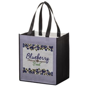 """13"""" x 10"""" x 15"""" P.E.T. Non-Woven Full Color  Grocery Bag - Bags"""