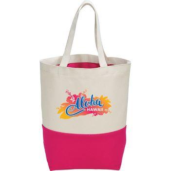 10 oz. Cotton Color Pop Tote - Bags