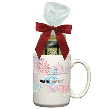 15 oz. FullColor Mug with Four Assorted Tea Bags - Mugs Drinkware