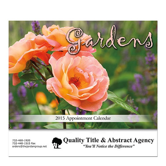 Gardens Stapled Wall Calendar - Awards Motivation Gifts