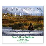 Wildlife Stapled Wall Calendar
