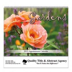Gardens Spiral Bound Wall Calendar
