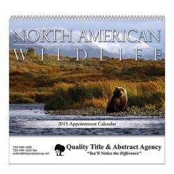 Wildlife Spiral Bound Wall Calendar