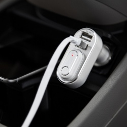 Car Charger/Bluetooth Ear Bud Duo