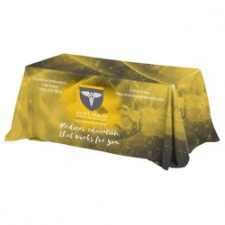 4-Sided Throw Style Table Covers & Table Throws - Fits 6 Foot Table