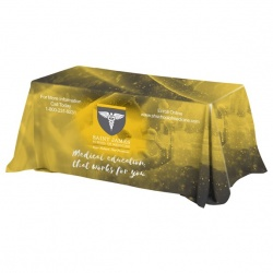 4-Sided Throw Style Table Covers & Table Throws - Fits 8 Foot Table