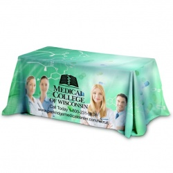 3-Sided Throw Style Table Covers - Fits 6 Foot Table