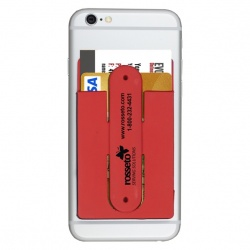 Kickstart Two Function Soft Silicone Cell Phone Kickstand & Wallet