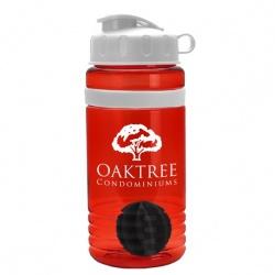 20 oz. Stripe Shaker Bottle with Flip Lid