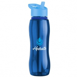 25 oz. Tritan Bottle with Collar with Flip Straw Lid