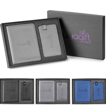 Passport Holder/Luggage Tag Gift Set - Travel Accessories & Luggage