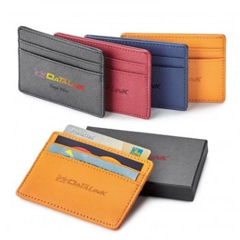 Toscano Genuine Leather RFID Card Holder - Travel Accessories & Luggage