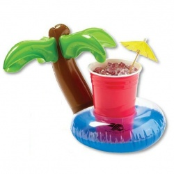Inflatable 7 Palm Tree Lagoon Beverage Coaster