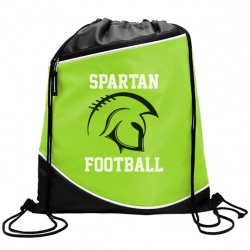 Campus Pack - 210D Drawstring with Zipper Pocket