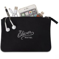 Avery Cotton Zippered Pouch