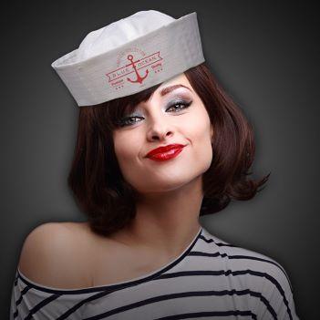 White Sailor Hat - Apparel