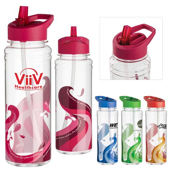 Clear Wave Water Bottle - 25 oz. - Mugs Drinkware