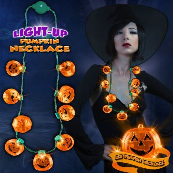 Pumpkin LED Necklace - Puzzles, Toys & Games