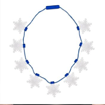 LED Snowflake Necklace - Puzzles, Toys & Games