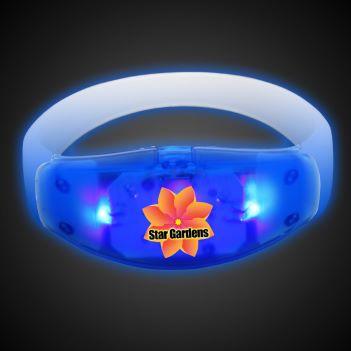 Sound Activated Blue LED Stretchy Bangle Bracelet  - Puzzles, Toys & Games