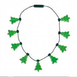 LED Christmas Tree Necklace