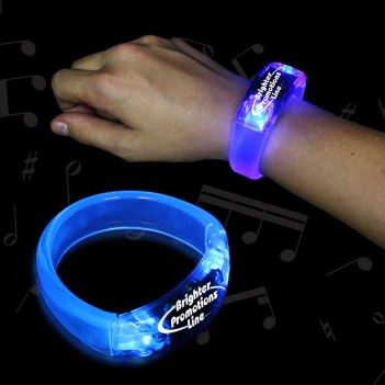 Blue Sound Activated LED Bangle Bracelets  - Puzzles, Toys & Games