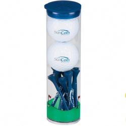 2 Ball Tall Tube with Wilson Chaos Golf Balls
