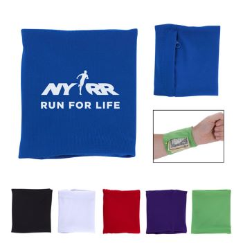 Stretch Wristband with Pocket - Health Care & Safety Fitness Products
