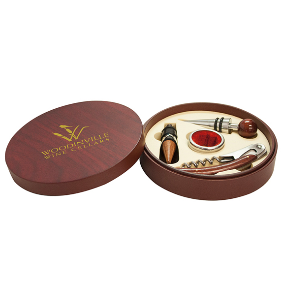 Montalcino - Round 4 Piece Wine Tool Set - Kitchen & Home Items