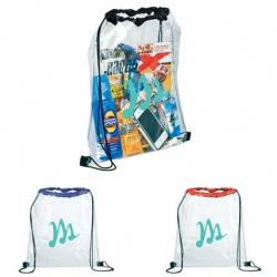 Rally Clear Drawstring Bag