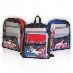 Archer Clear Front PVC Backpack
