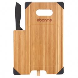 Bamboo Cutting Board with Knife