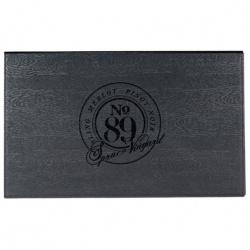 Laguiole Black Kitchen Knife & Cutting Board Set