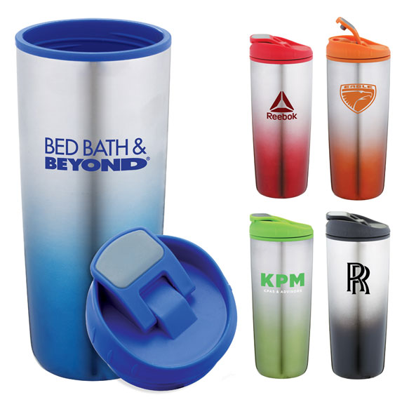 18 oz Stainless Steel Tumbler with Plastic Interior - Mugs Drinkware