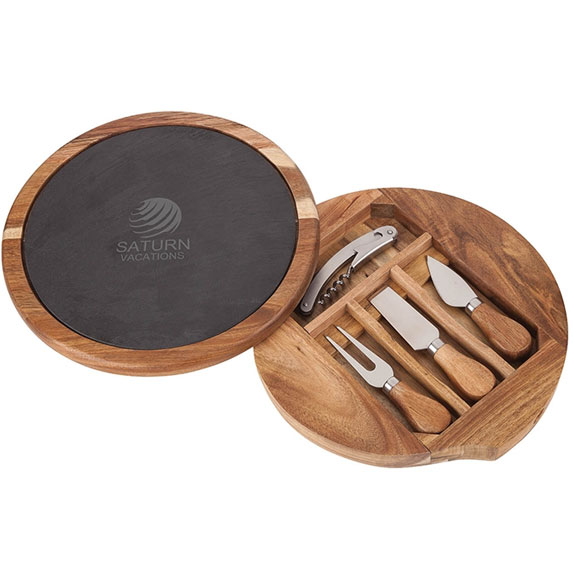 Normandy Swivel Base Cheese/Wine Set - Kitchen & Home Items