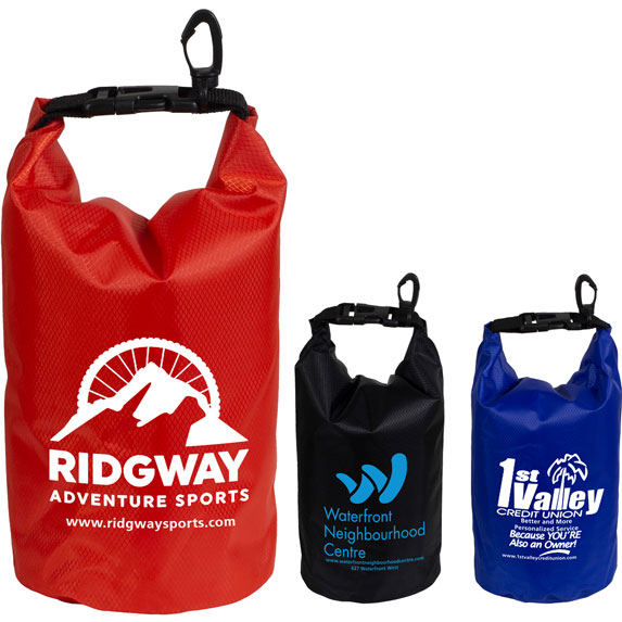 2.5L Water Resistant Dry Bag with Clear Pocket Window - Bags