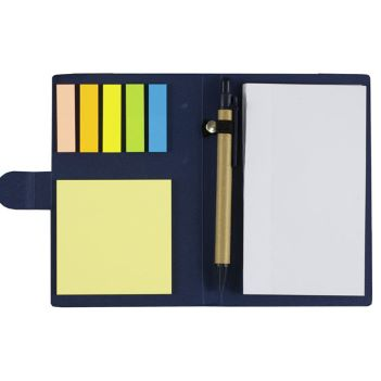 Sticky Notes and Flags Notepad Notebook with Pen - Padfolios, Journals & Jotters
