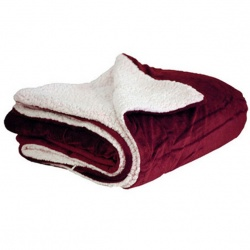 50 x 60 Micro Mink Sherpa Blanket with Hidden Zipper
