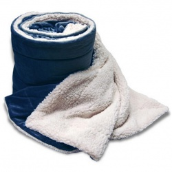 60 x 72 Oversized Sherpa Micro Mink Blanket with hidden zipper