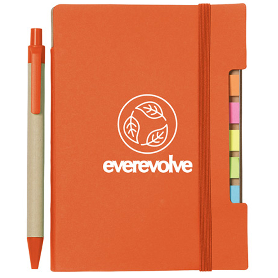"""4"""" x 6"""" Recycled Sticky Notebook with Pen - Awards Motivation Gifts"""