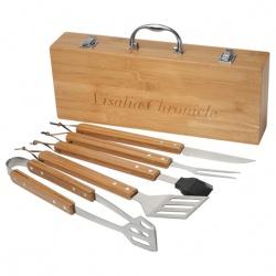 Grill Master 5pc Bamboo BBQ Set