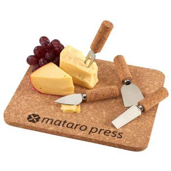 5 Piece Cork Cheese Platter - Kitchen & Home Items