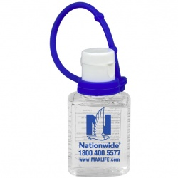 Color Printed 0.5 oz Hand Sanitizer with Silicone Leash