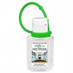 FullColor 1 oz. Compact Hand Sanitizer with Silicone Leash
